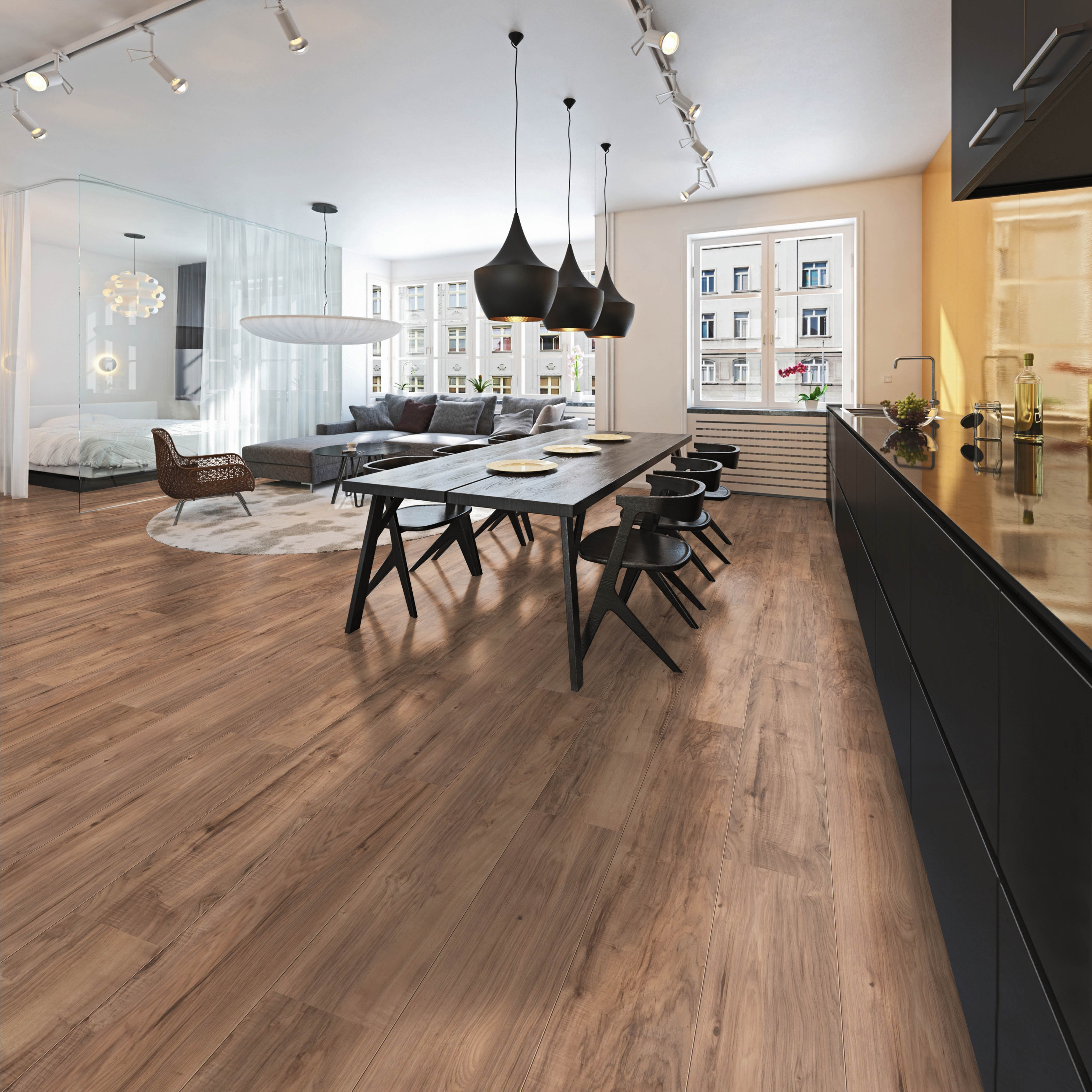 Dynamic Highlands 35725 Rustic Pecan Laminate Philadelphia Flooring Solutions