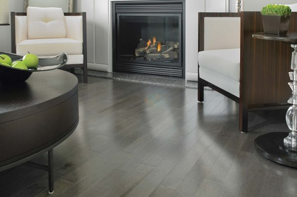 light gray wood flooring
